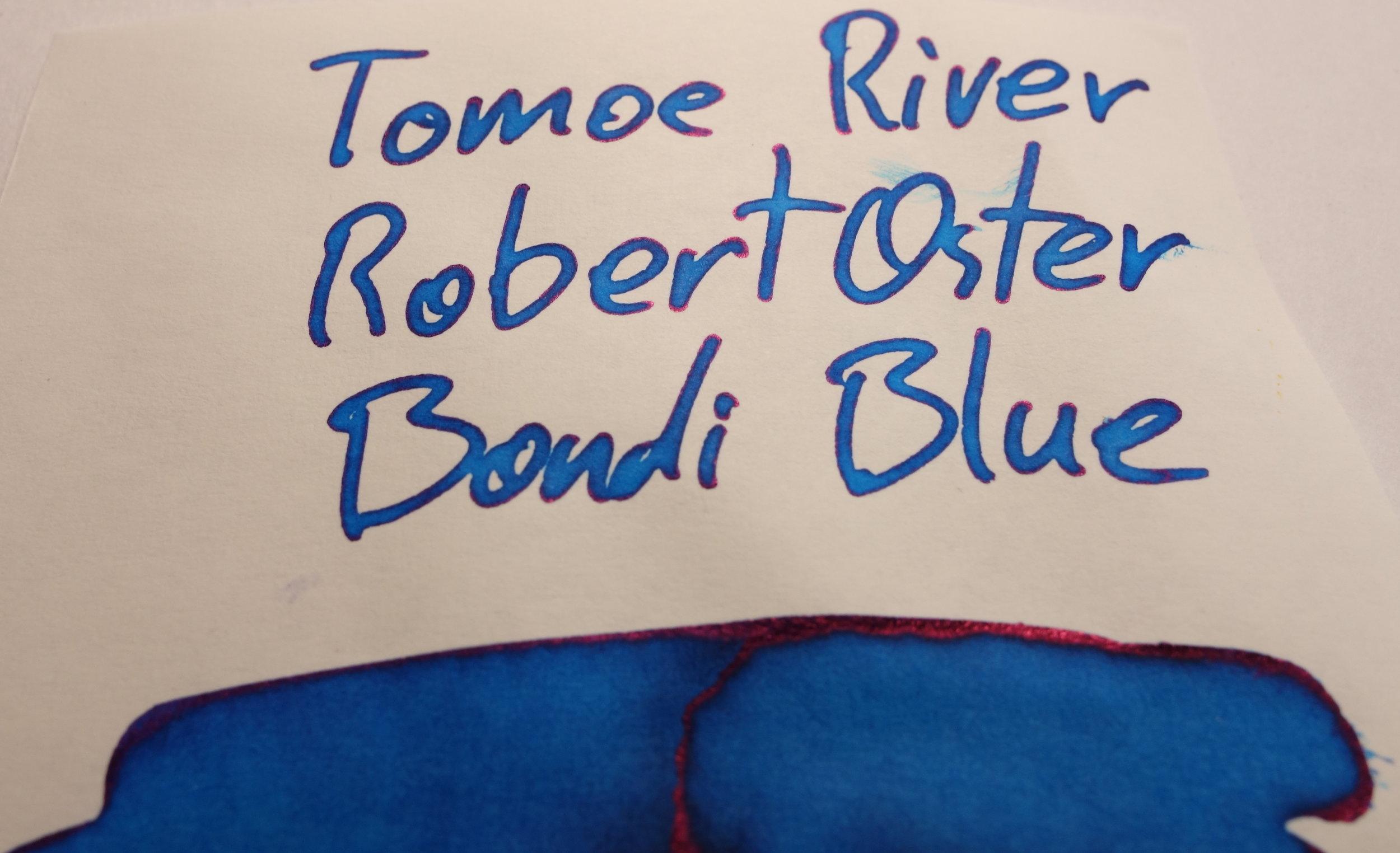 Robert Oster Bondi Blue Sheen Tomoe River.JPG