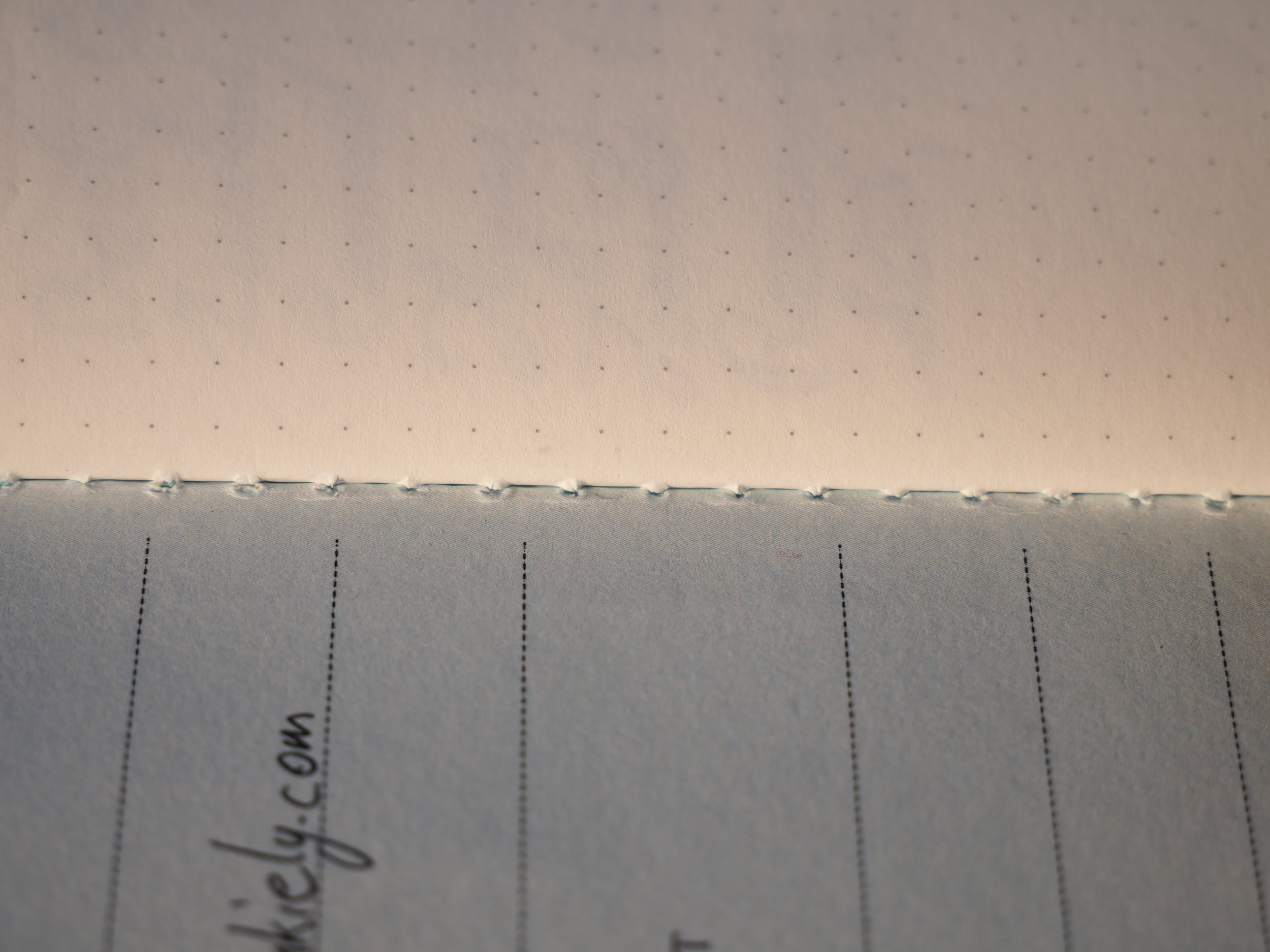 Stitching inside cover