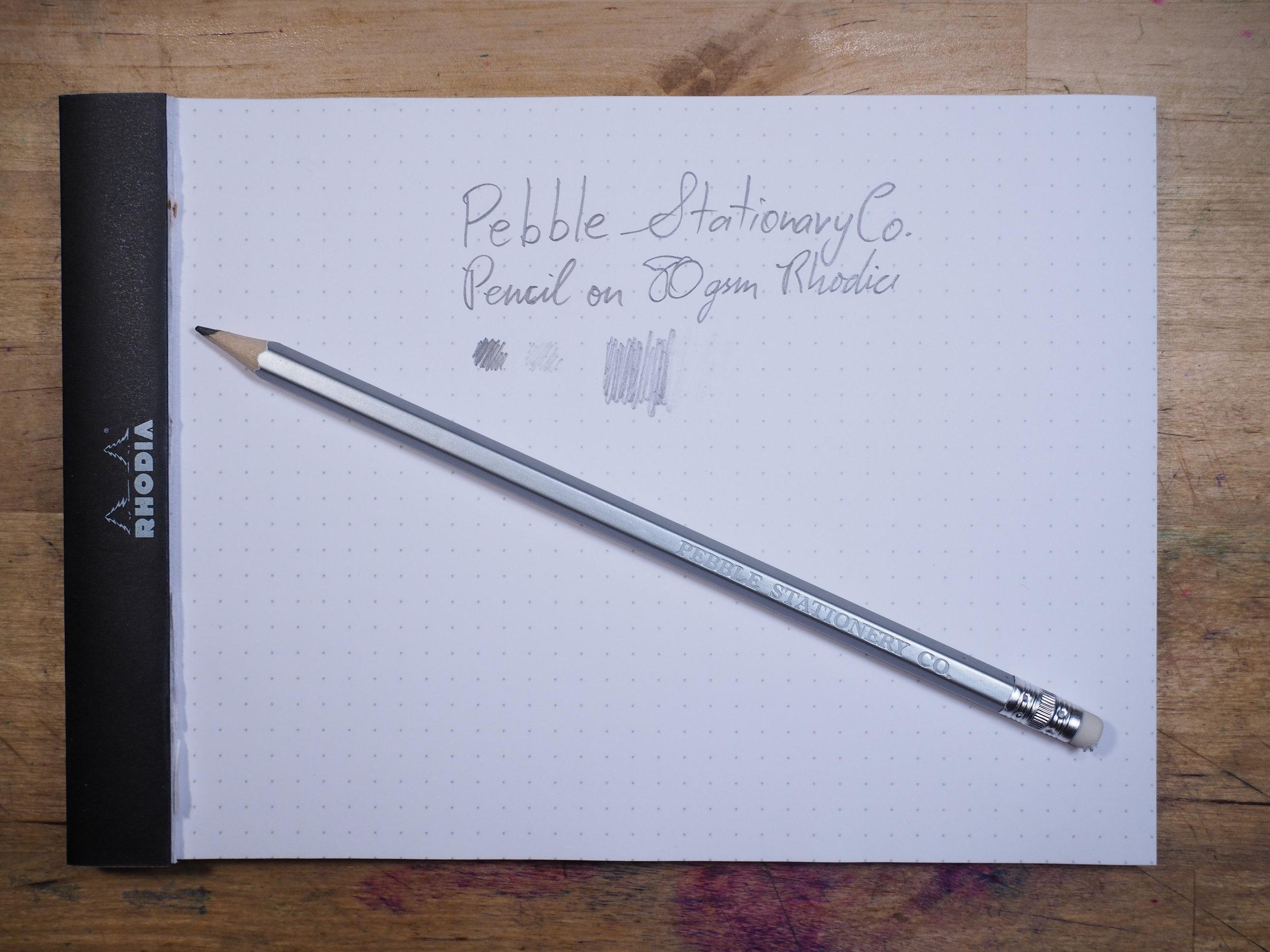 Pencil on Rhodia