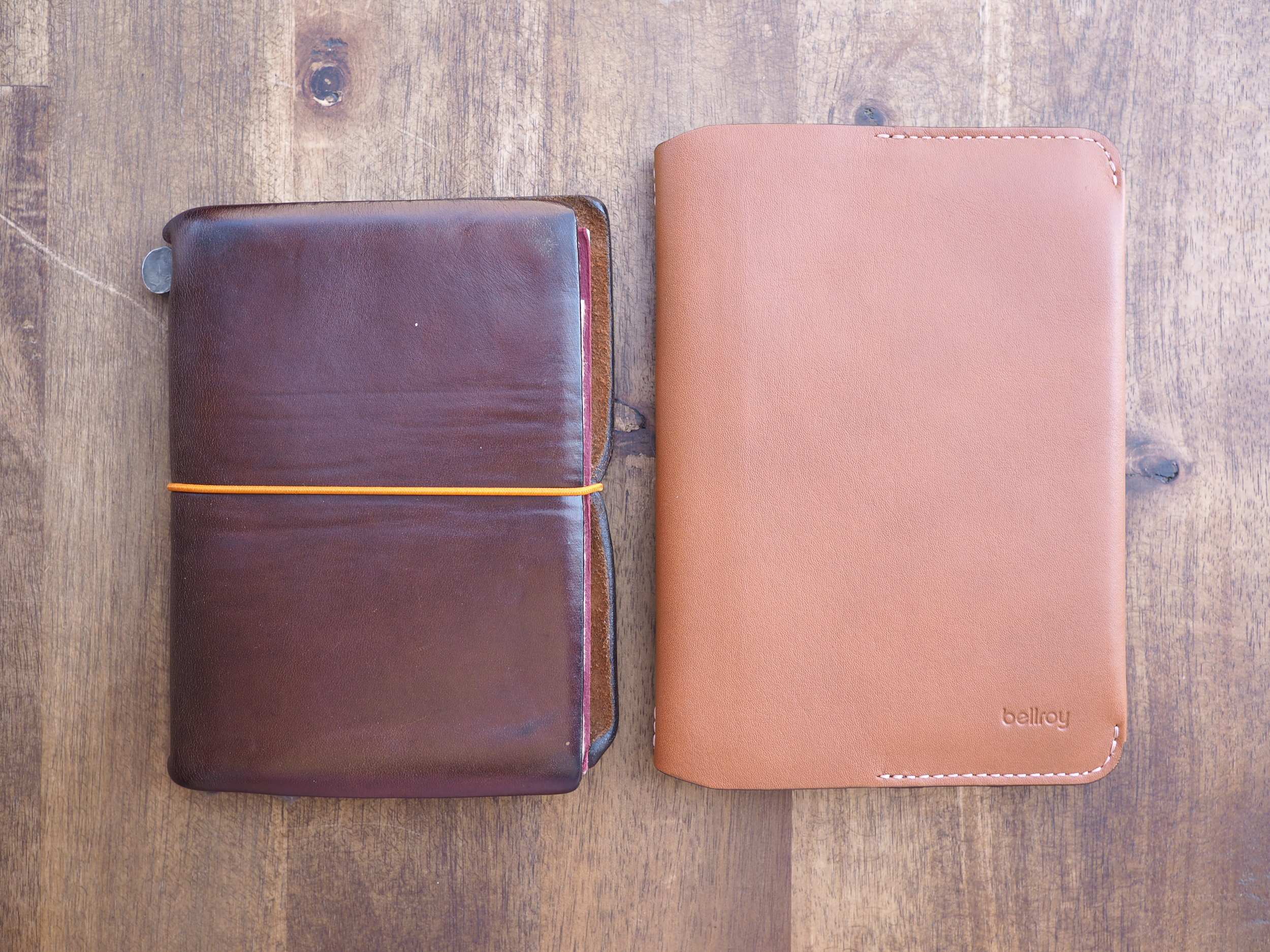 Compared to Traveler's Notebook