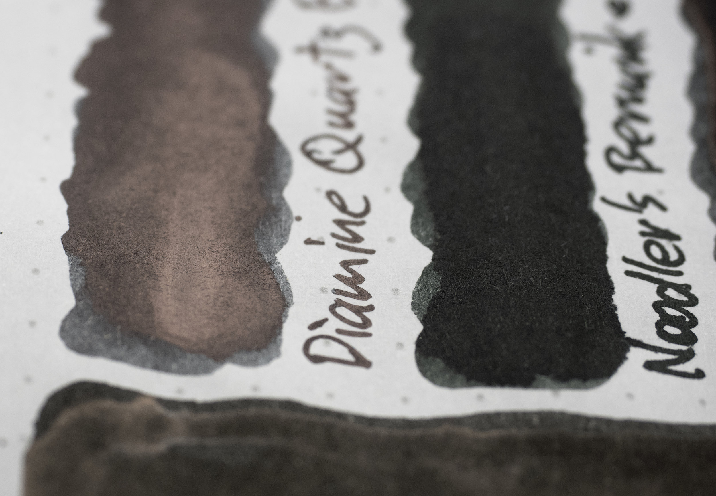 Sheen Diamine Quarts Black and Noodler's Bernanke Black