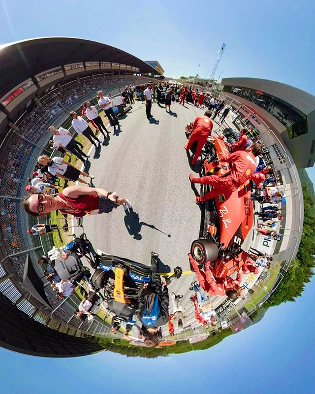 2 perspectives ➡️ One from the @f1 grid and one just over it. Still can't quite believe I got to experience the #f1 from so many angles and so up close. The moto-nerd in me was smiling from ear to ear and it's made me really miss racing myself (to avoid misunderstandings for new faces here I used to race Baja style races in the desert in Dubai ❤️). Also shout out to all the followers that sent me photos and videos of me on the TV, I loved it 😂😂 #gopro #goprofusion #formula1 #austria #redbullring