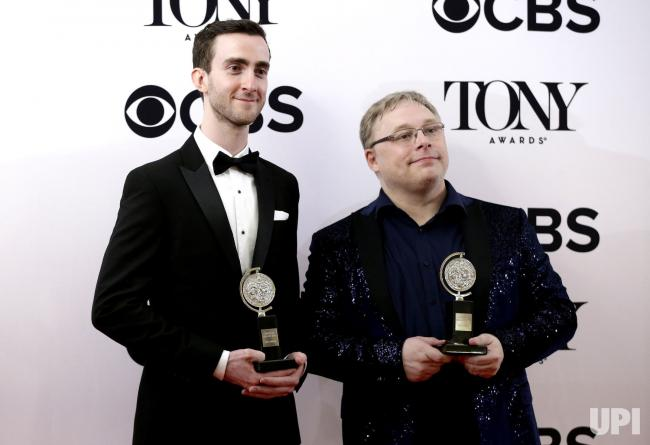 Receiving Tony Award with Gareth Fry