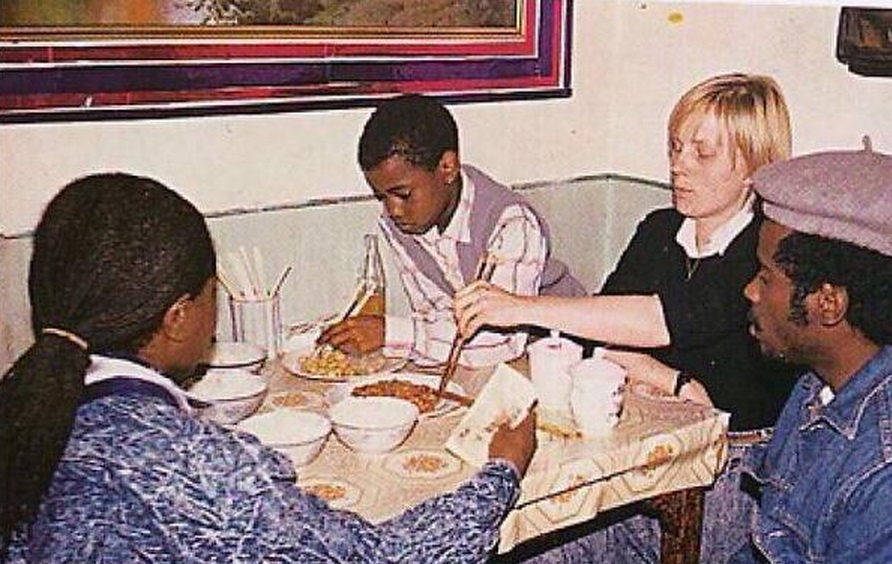 Kayne West mastering the art of the chopstick aged 10