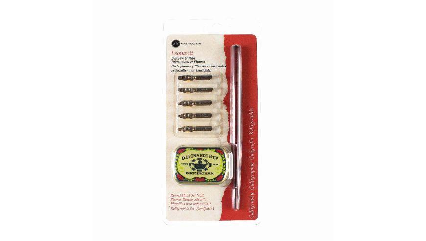 Leonardt Round Hand Dip Pen & Nib Set 1