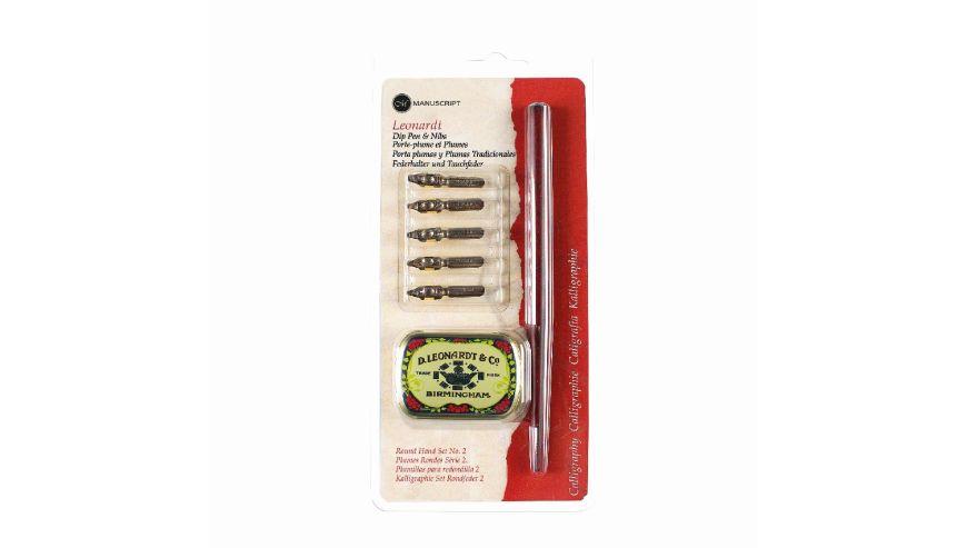 Leonardt Round Hand Dip Pen & Nib Set 2