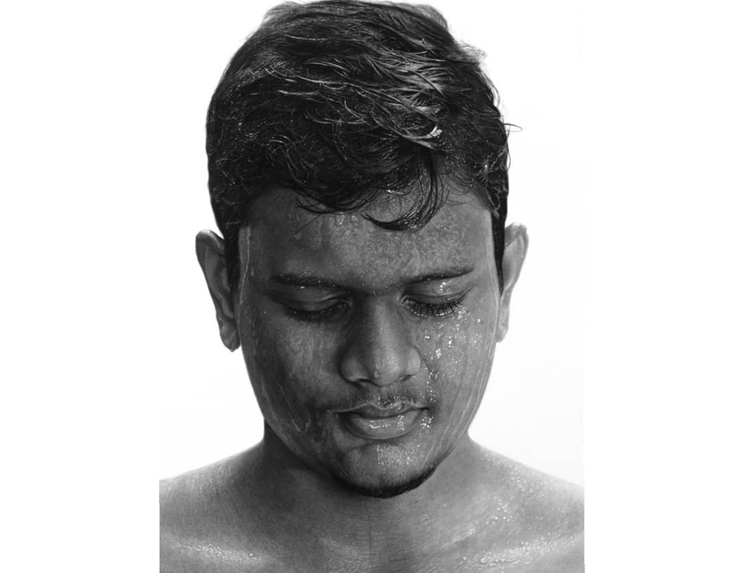 Serenity by Tathagata Paul Graphite and Charcoal on paper 55 × 75 cm
