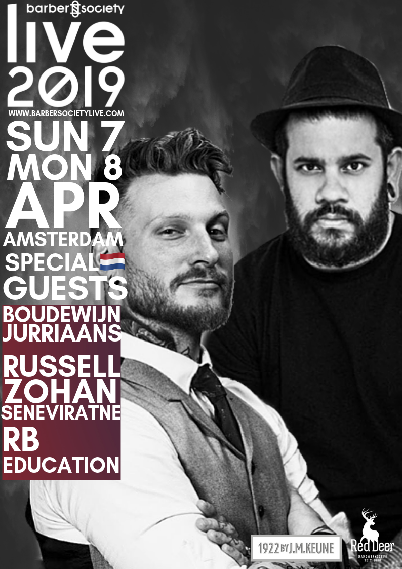 Redken Brews   Redken Brews artists Boudewijn Jurriaans and Russell Zohan Seneviratne will show us their skills on the Barber Society main stage!   Boudewijn – a.k.a. Barber Birdman  – is international barber, educator and owner of barbershop Amsterdam Dandy. Using his traditional style, Boudewijn managed to gather a big following on his social media channels.   Russell  – known from his work at Headcase Barbers – is a contemporary, international men's hair stylist and educator and has been exploring new hairstyles that are always masculine, bold and authentic.  By founding RB Education, the goal of these two friends is to bring classical barbering and more contemporary hairstyling together, with the broad assortment of Redken Brews as their ideal toolkit!