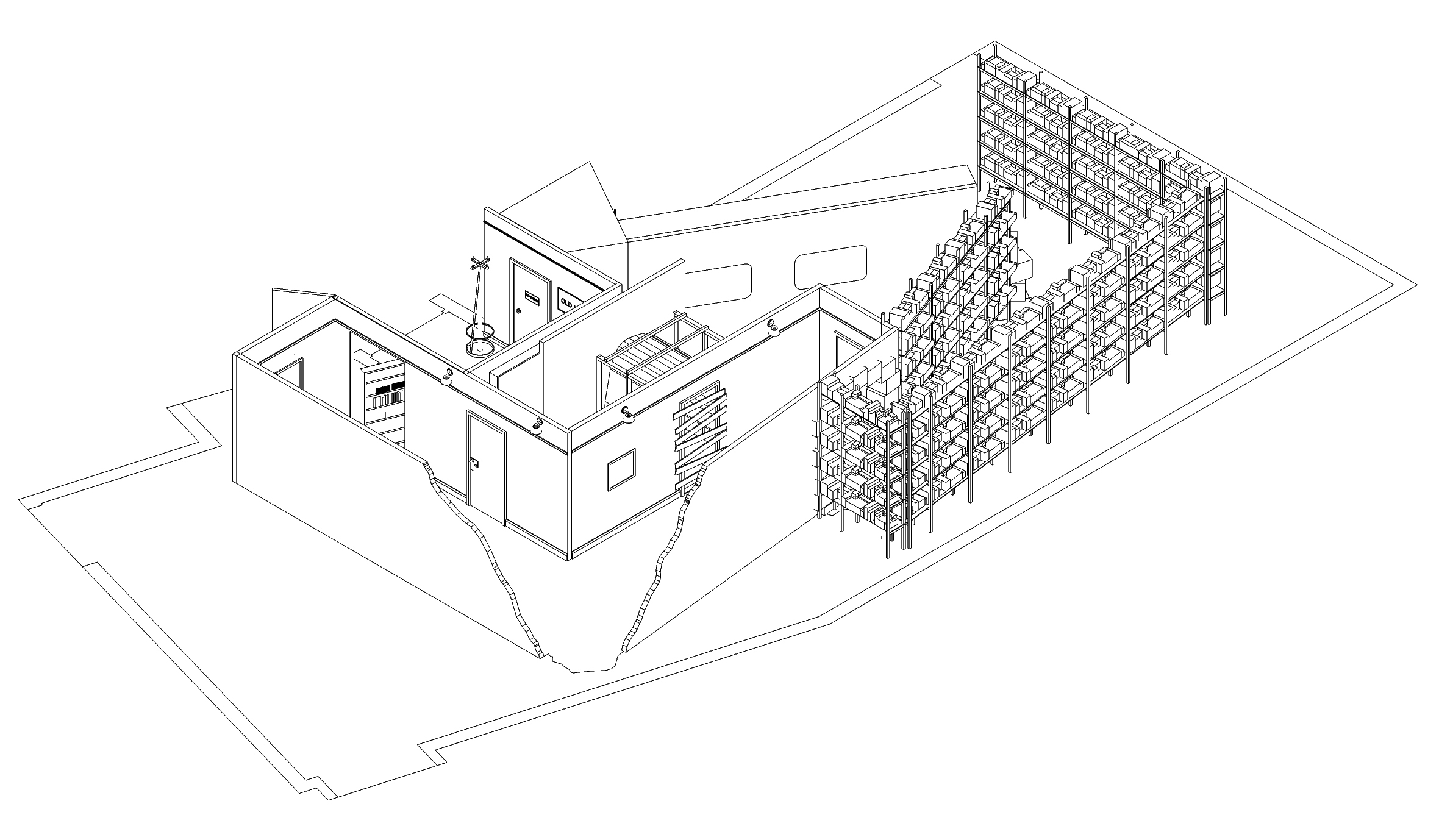 Above: Isometric  drawing of  exhibition design
