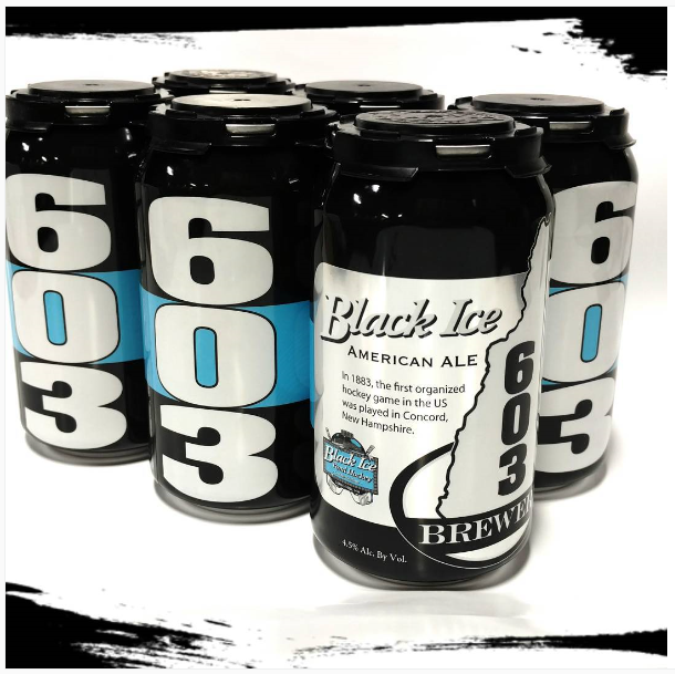 Brewed & canned for Black Ice hockey tournament
