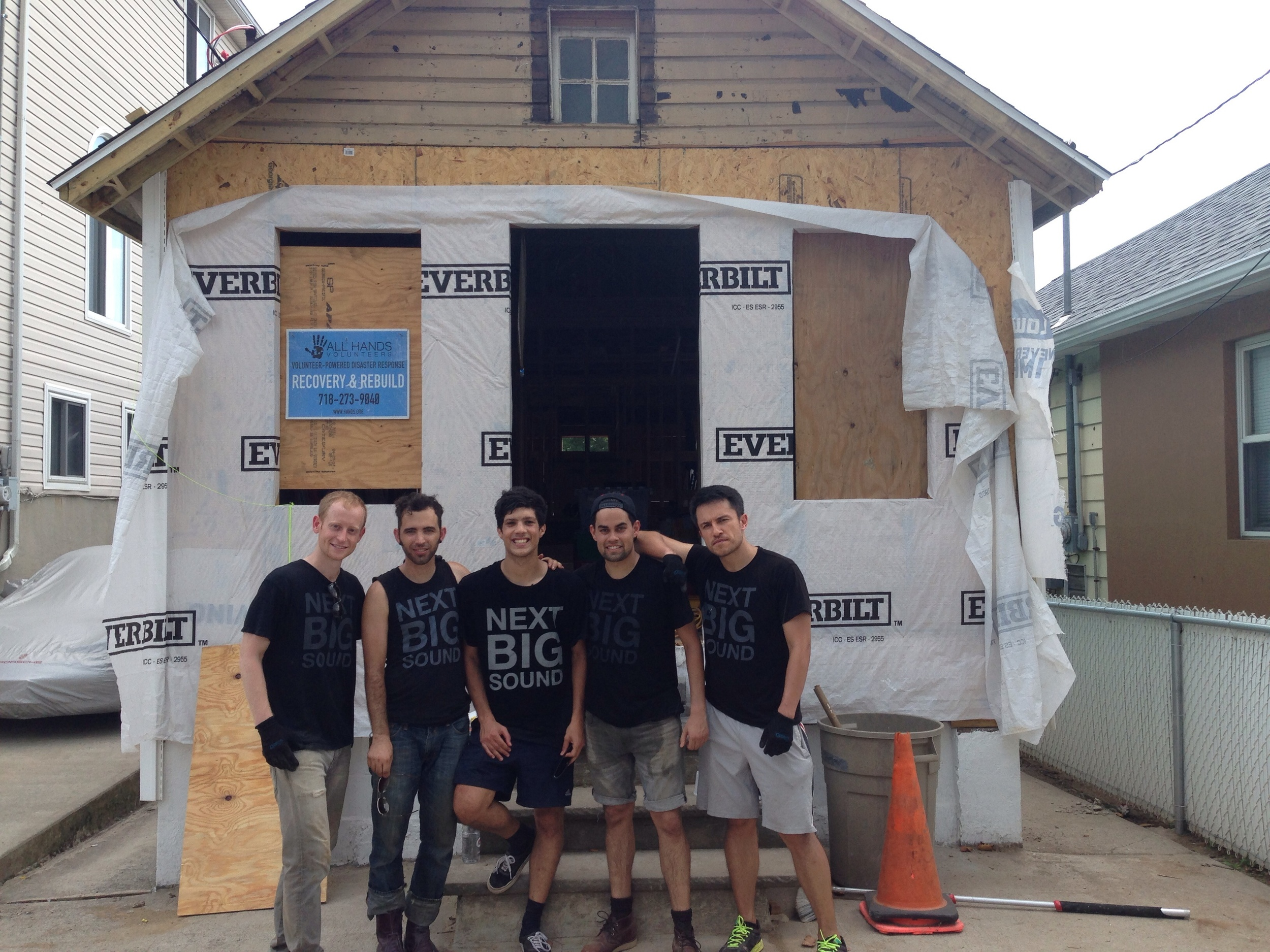 Some of the NBS team on Staten Island post-Sandy