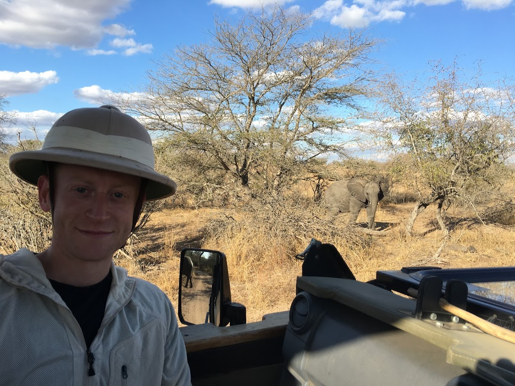On a safari (I borrowed this classic early 1900s safari hat from the lodge)