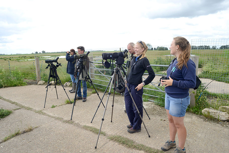 Project Godwit team. Pic WWT