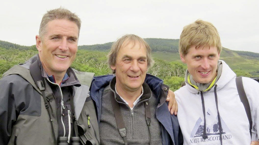 Iolo with Hugh Gillings and Ewan Miles