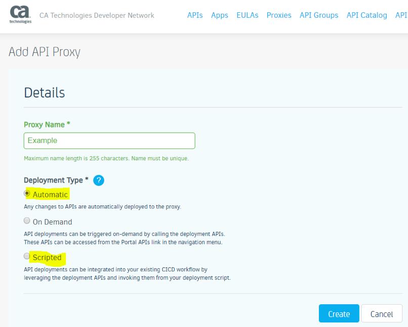 Add API Proxy