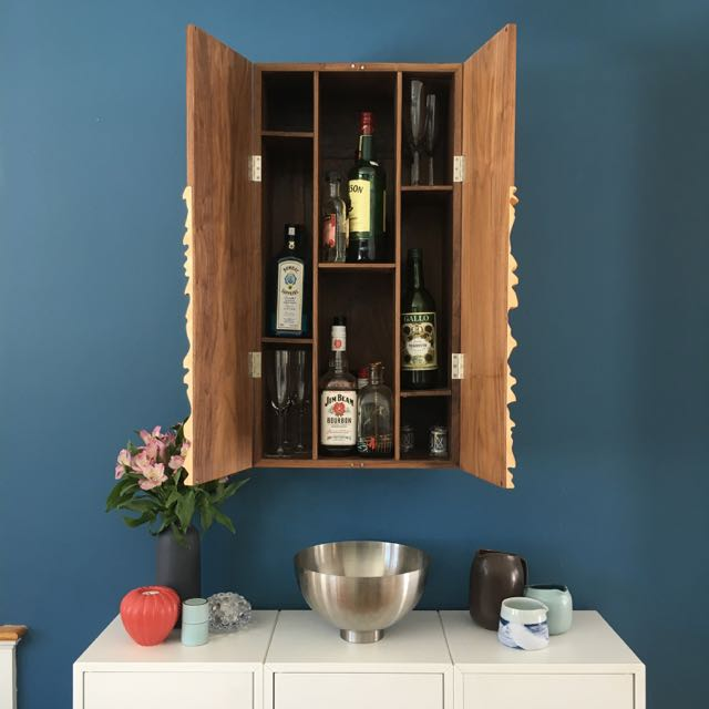 liquor cabinet open