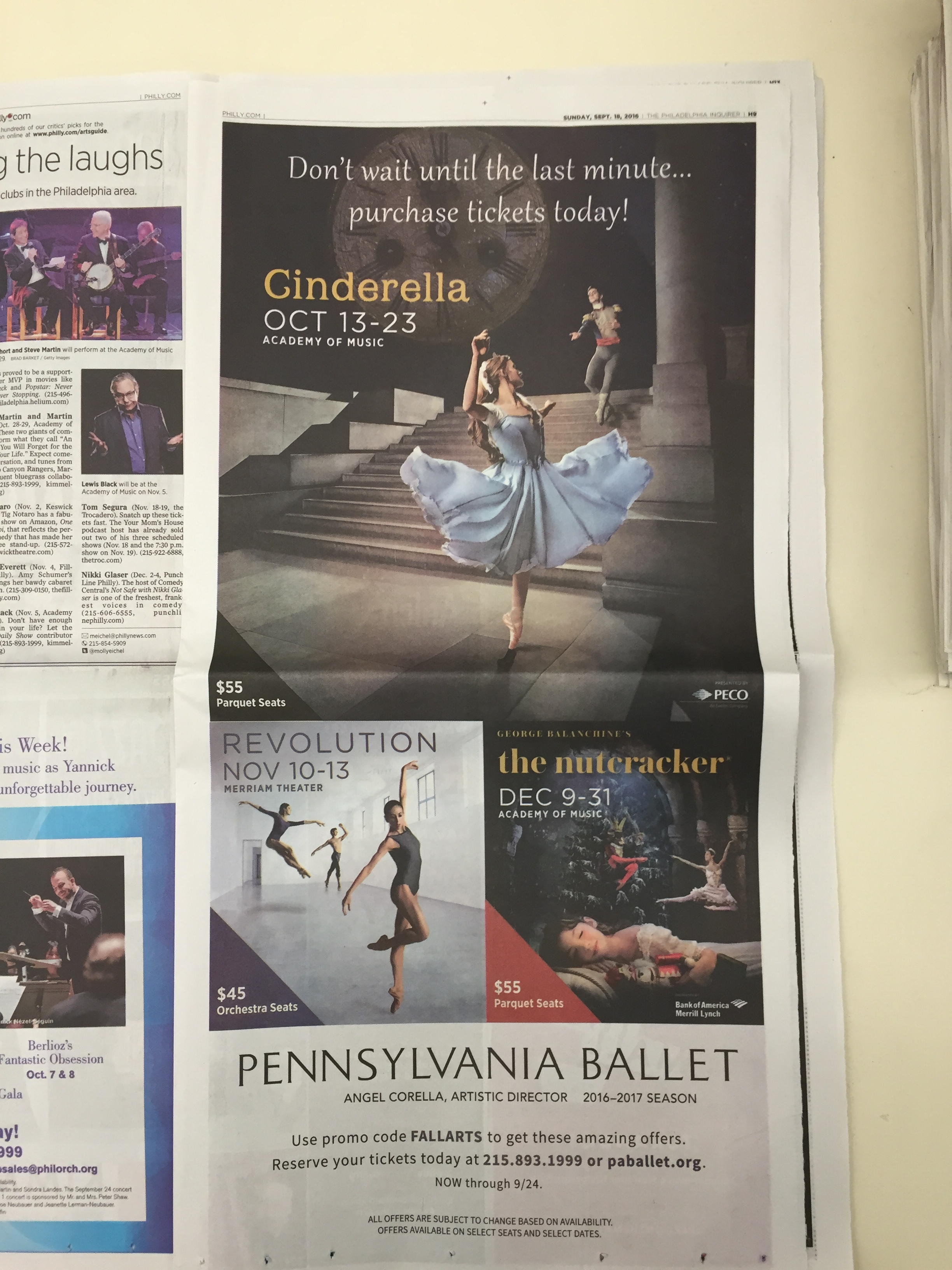 Print A  d in The Philadelphia  Inquirer