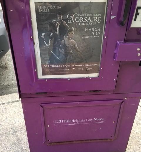 Print Ad in Philadelphia Gay News