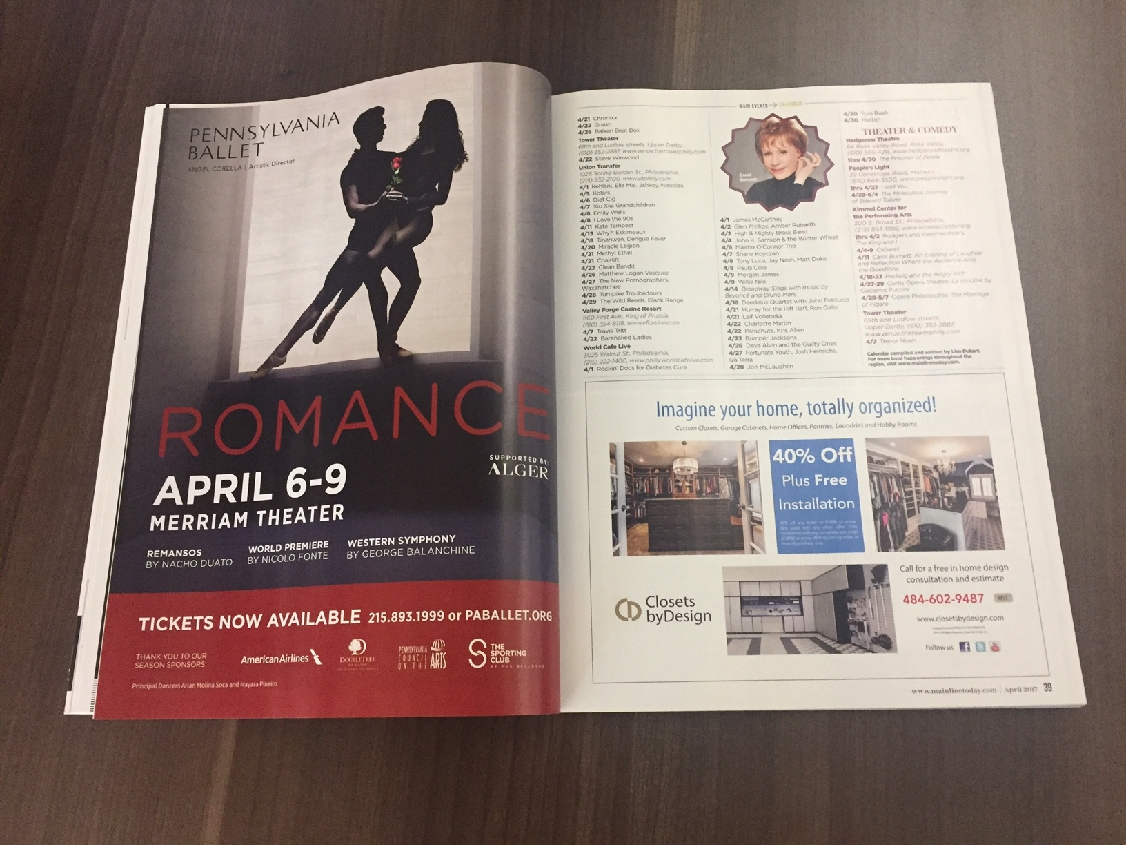 Print Ad in Main Line Today