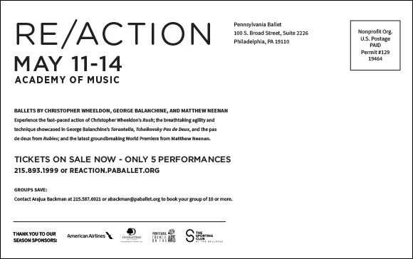 Re/Action direct mail card (back)