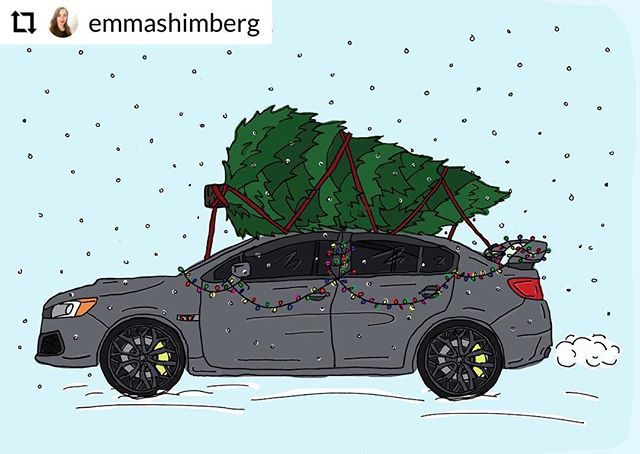 Over the river and through the woods in the STI we traveled this holiday but it's good to be home🎄#Subaru #subarusti #sti #wrx #subaruofamerica #travel #christmas #calipergreen #christmastree #presents #illustration #illustrator #art #card #design #graphic #graphicdesign #car #automotive #merrychristmas #happyholidays #endoftheyear #create