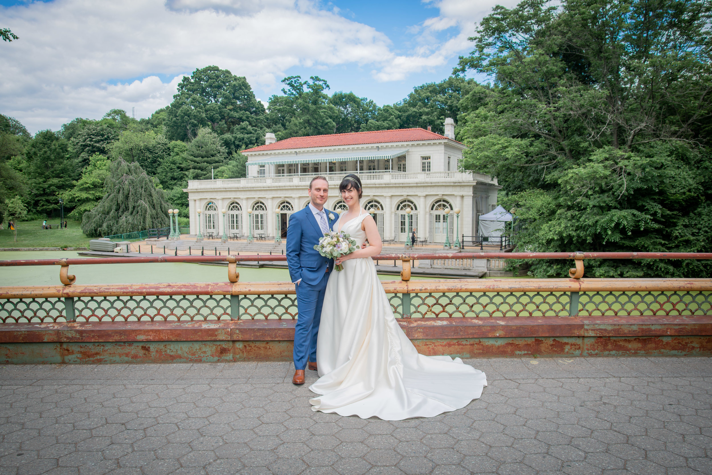 Brooklyn Prospect Park Boat House Wedding Portrait.jpg