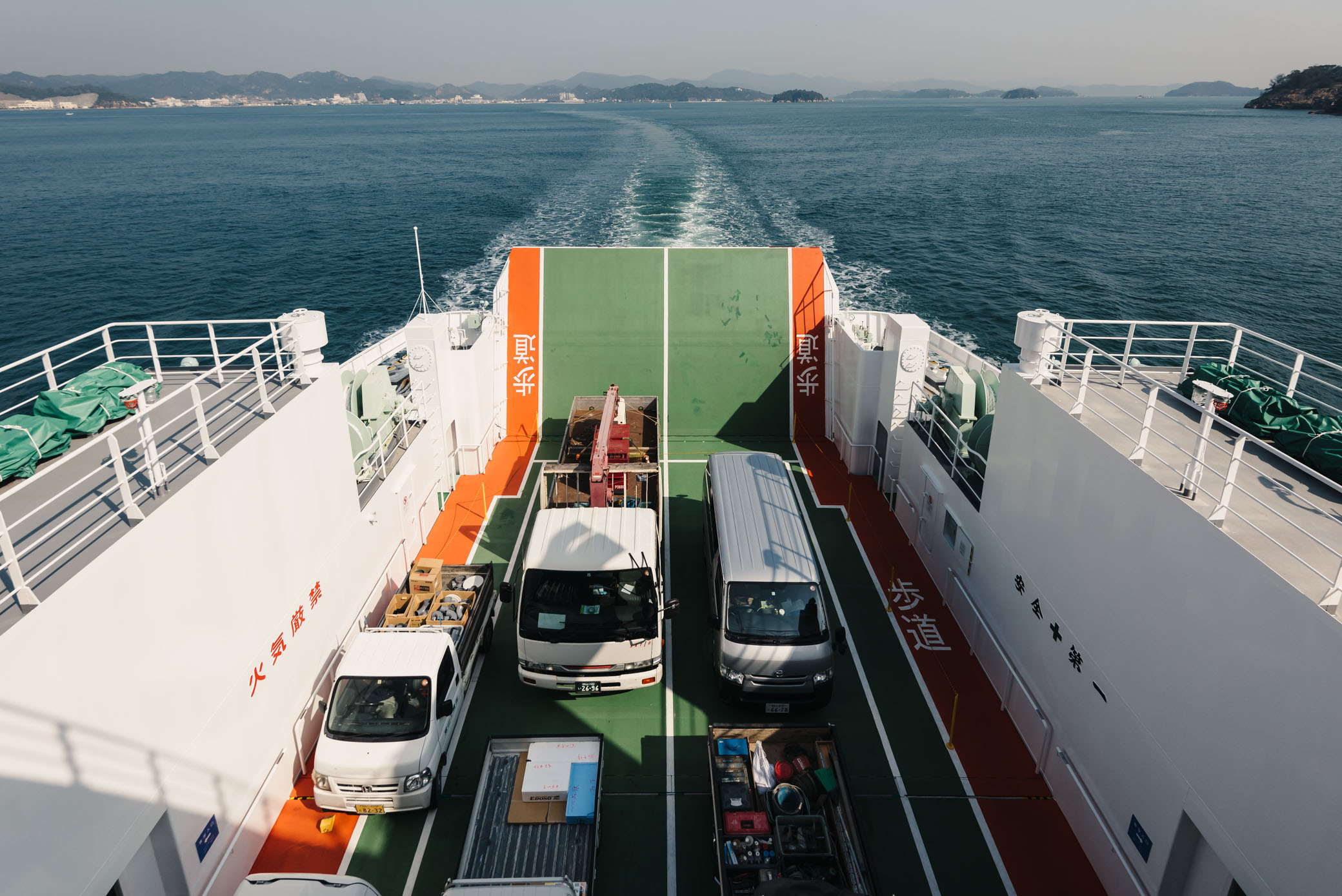 On the ferry from Uno to Naoshima