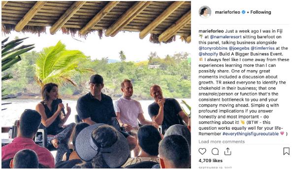 Instagram Post of Marie Forleo
