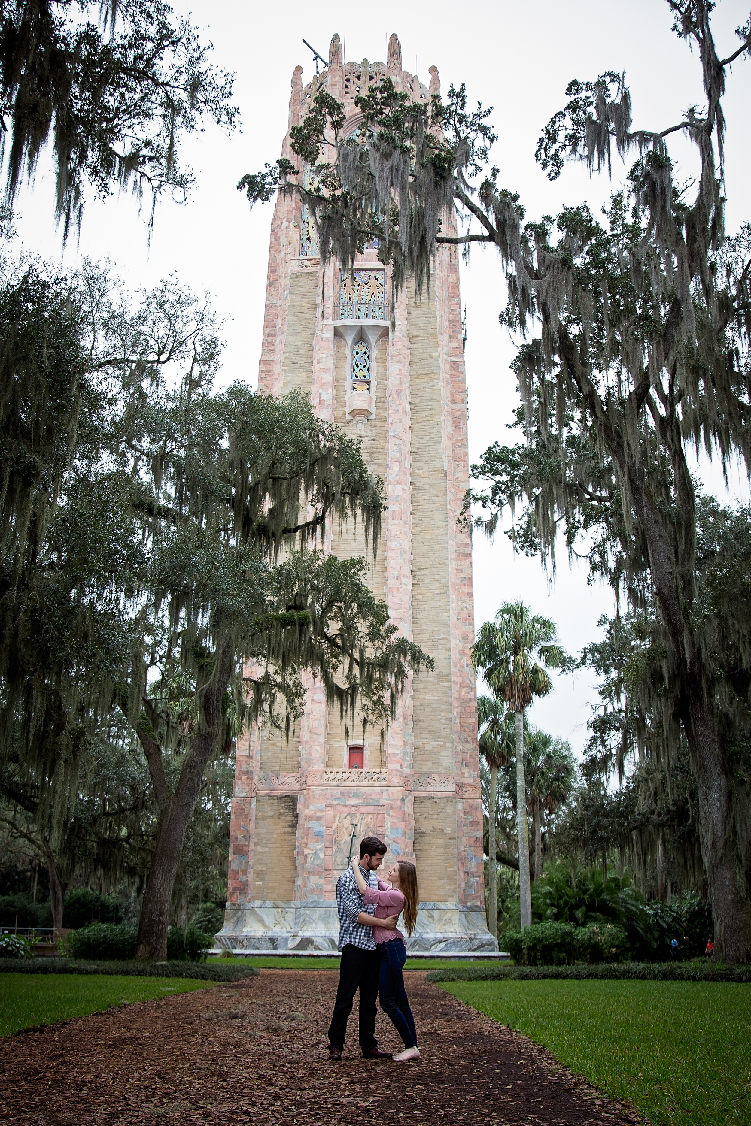 bok tower engagement lake whales florida photography