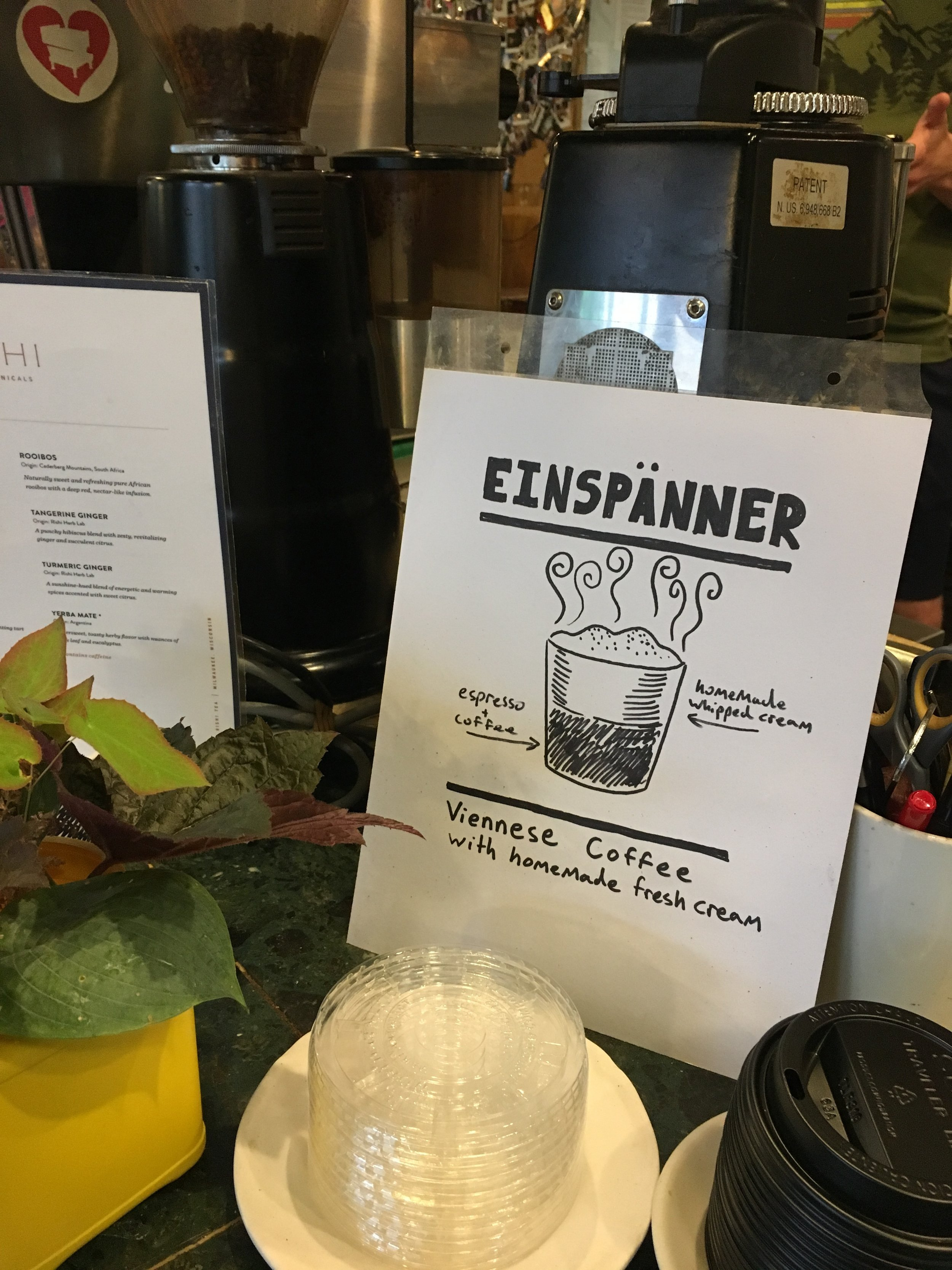A hand drawn advertisement for the hit new drink.