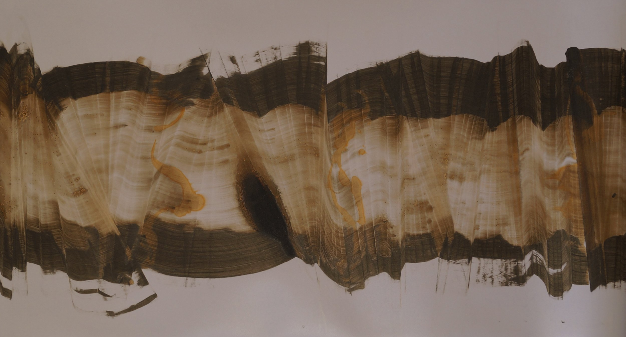 Sans titre, 110cm x 61cm ; Technique mixte sur papier photo, 2014