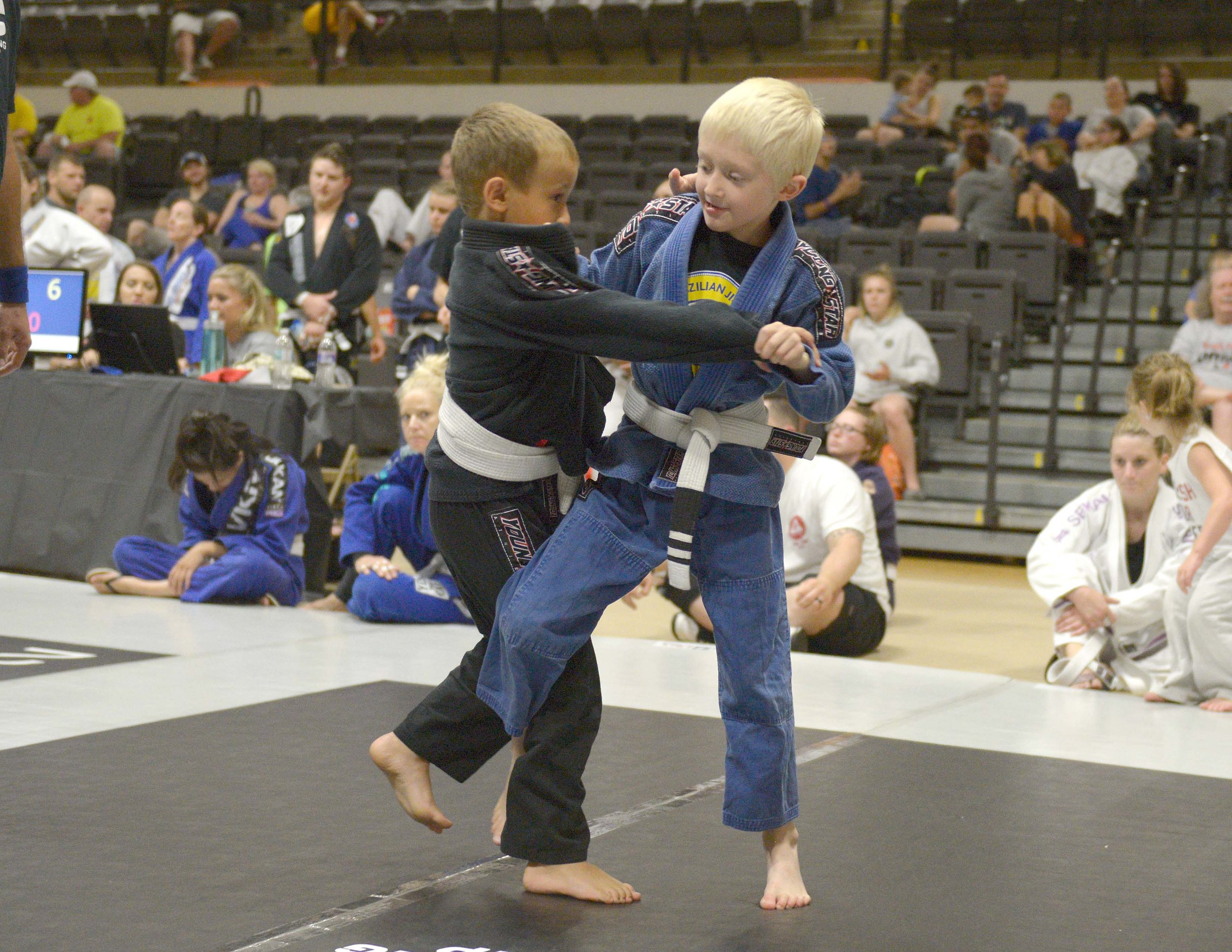 2 of our students battling it out in competition at the Victory Grappling Championship!
