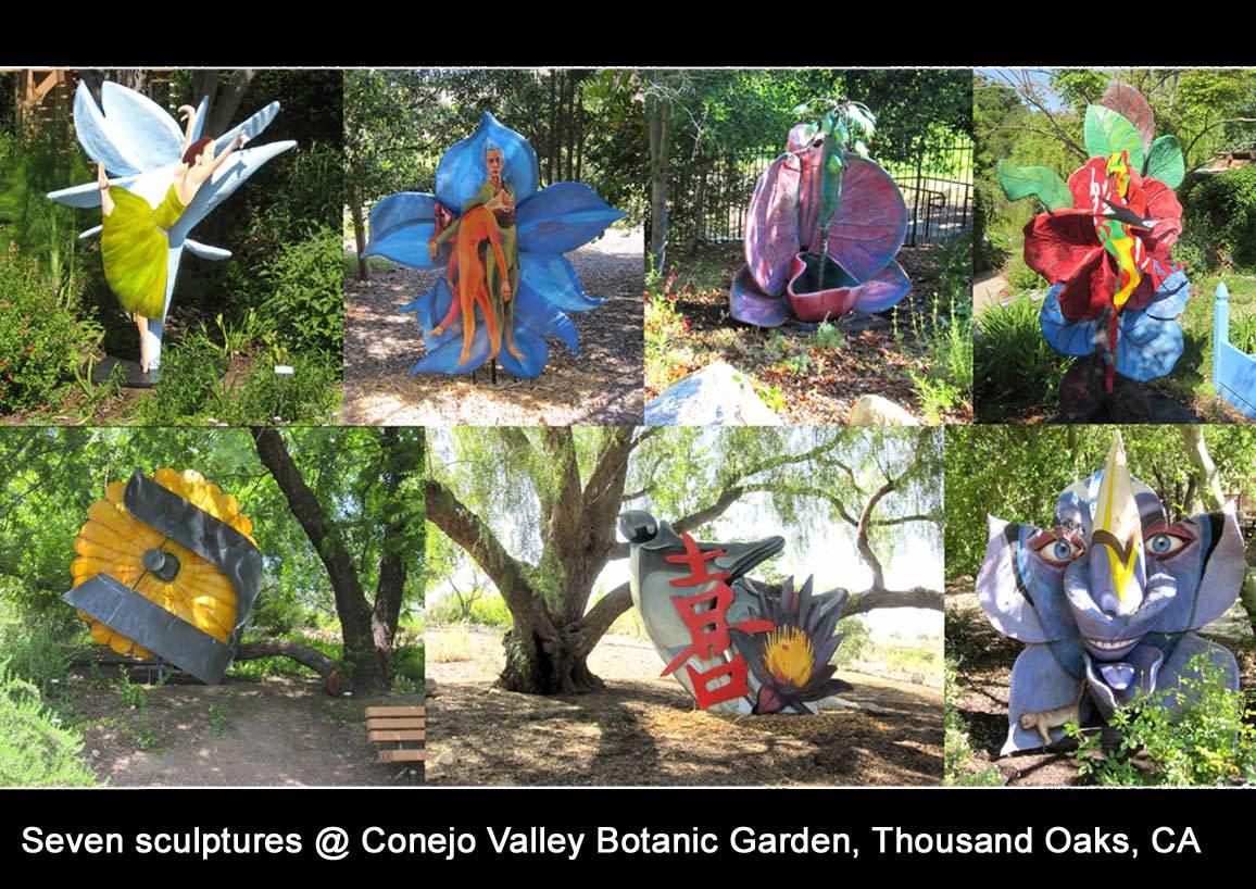 seven sculptures Conejo Valley Botanic Garden