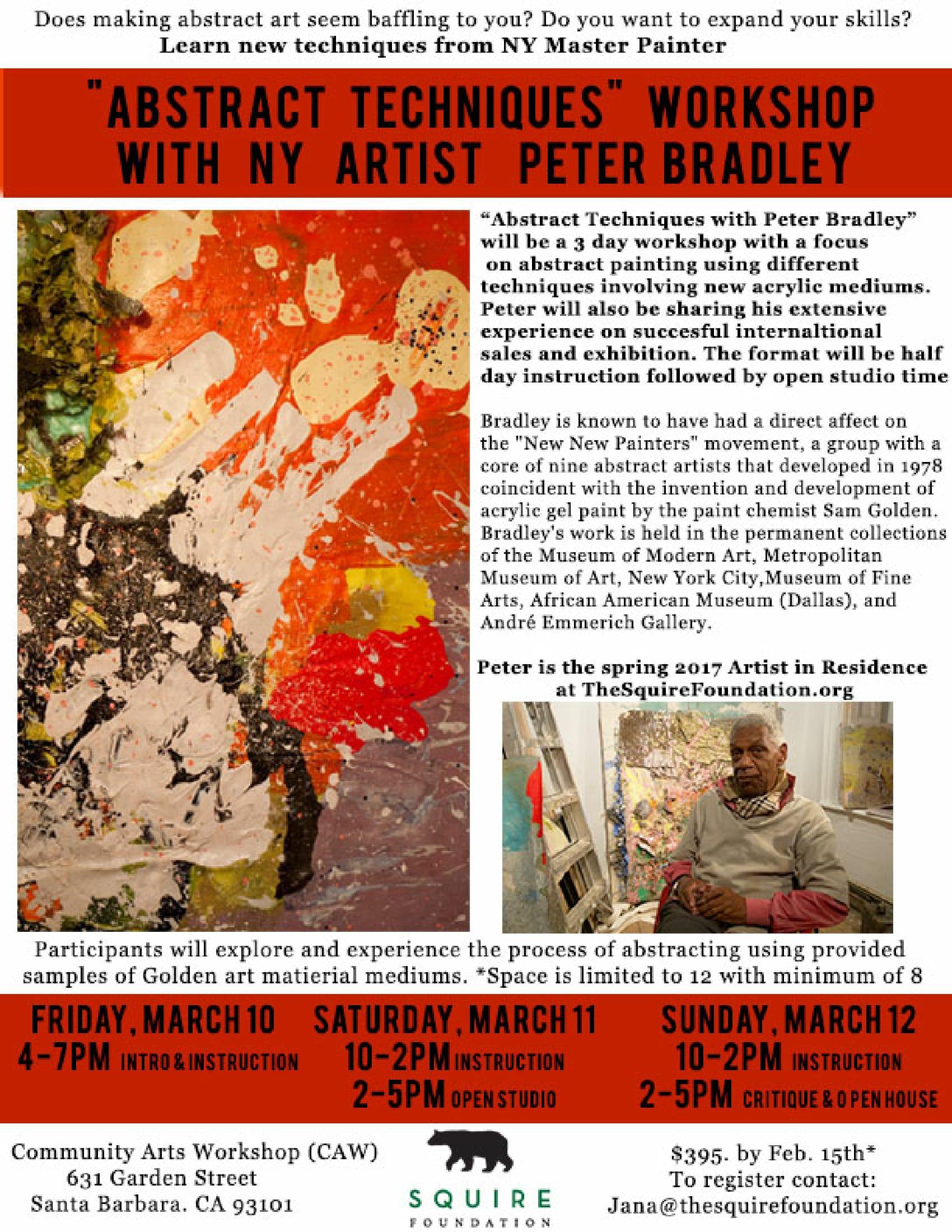 workshop with Peter Bradley