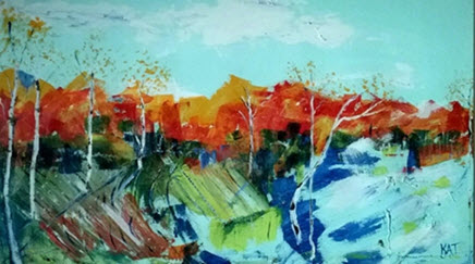 """Painting by local artist Kat Martin, who will display her solo-art exhibition """"Joie de Vivre"""" at the Leigh Block Gallery located at Hospice of Santa Barbara, beginning Feb. 9."""