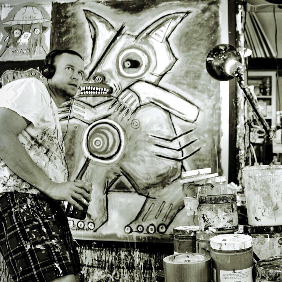 Matt Sesow in his studio