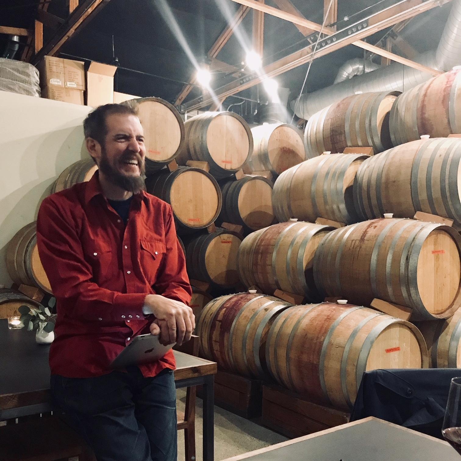 Carl Sutton at Potek Winery in Santa Barbara (image: Ashley W Hollister)