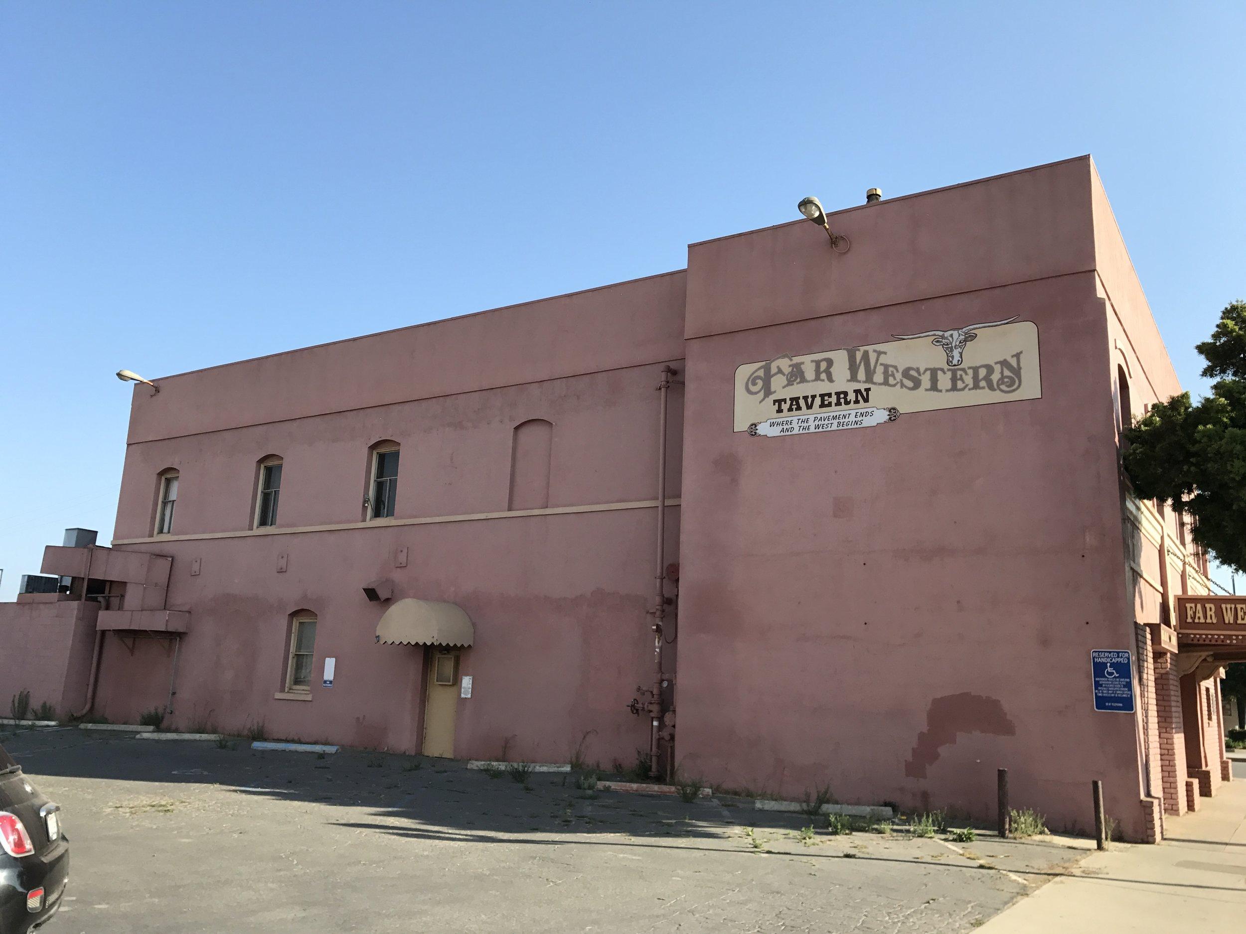 far west tavern building