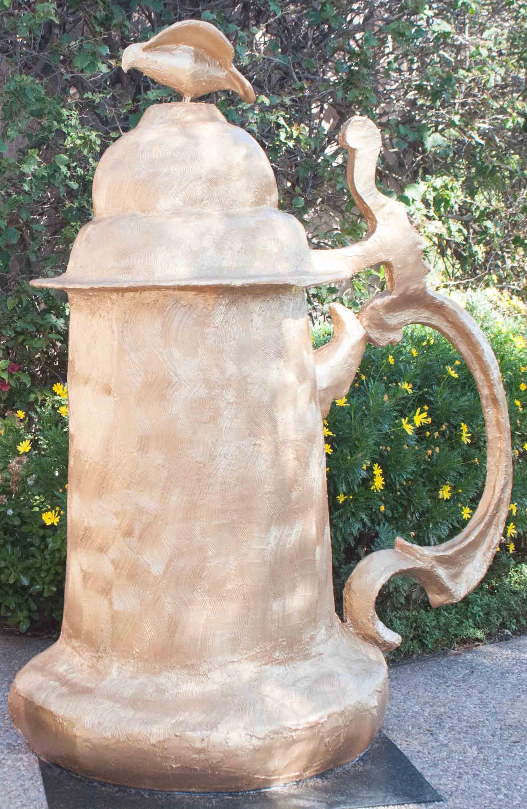 Golden Stein sculpture, Morris Squire, 2014