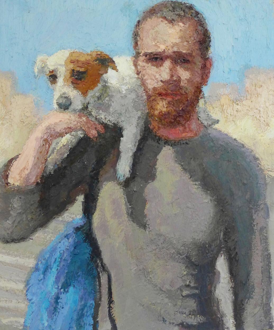 Dror Yisrael Hemed, Friendship, 2015, Oil on canvas, 60 x 50 cm.