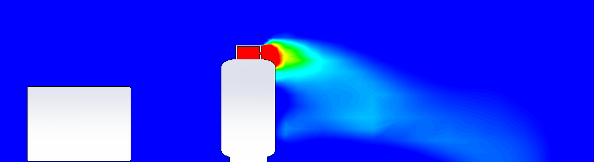 A leak from a propane cylinder is modeled using computational fluid dynamics.