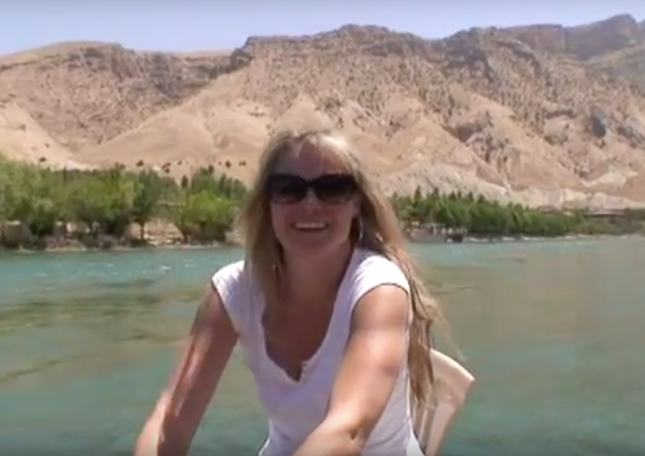 Simone on the river in Kurdistan