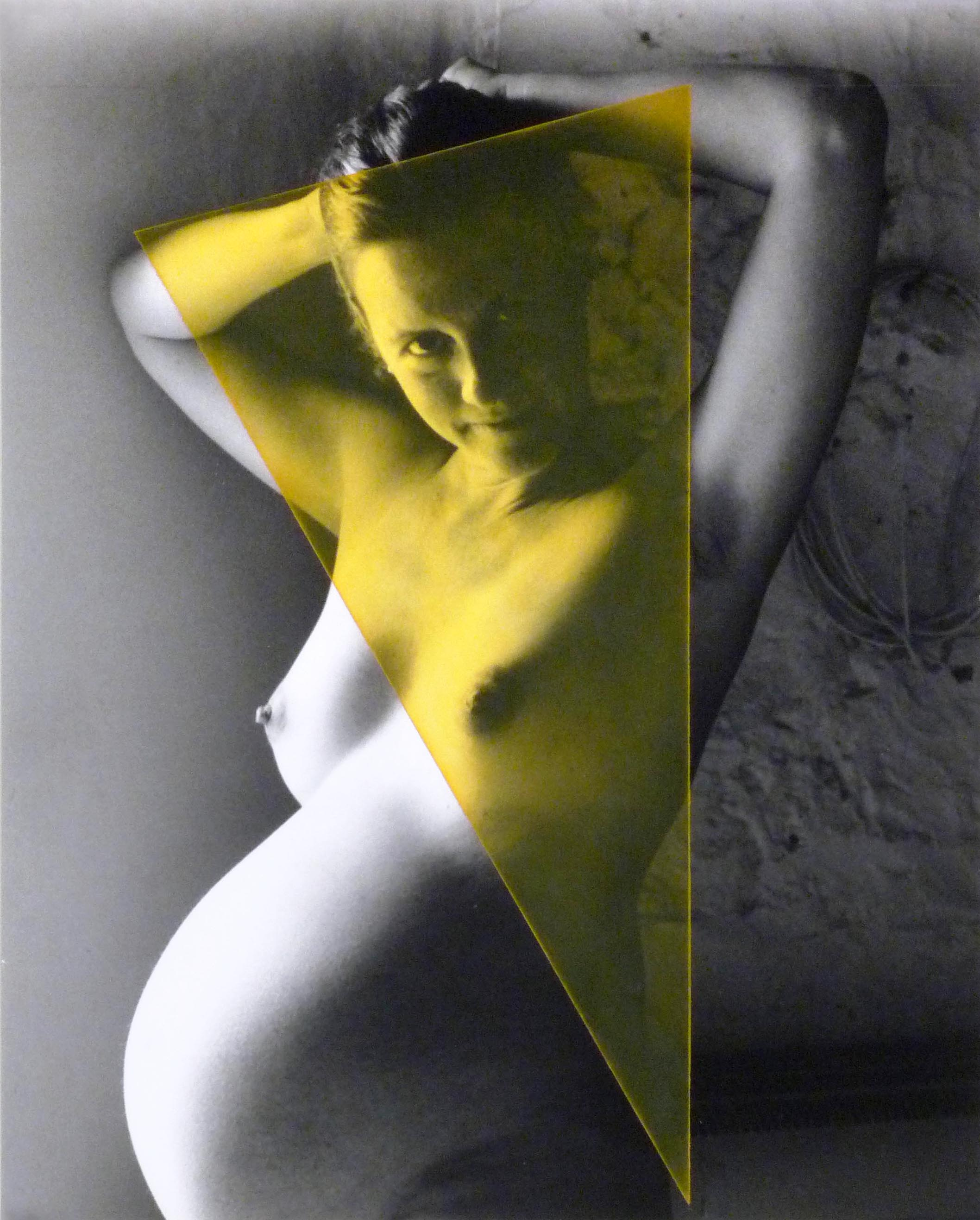 La Pietra Madonna  2007  oil paint on gelatin silver print  15 x 20 inches