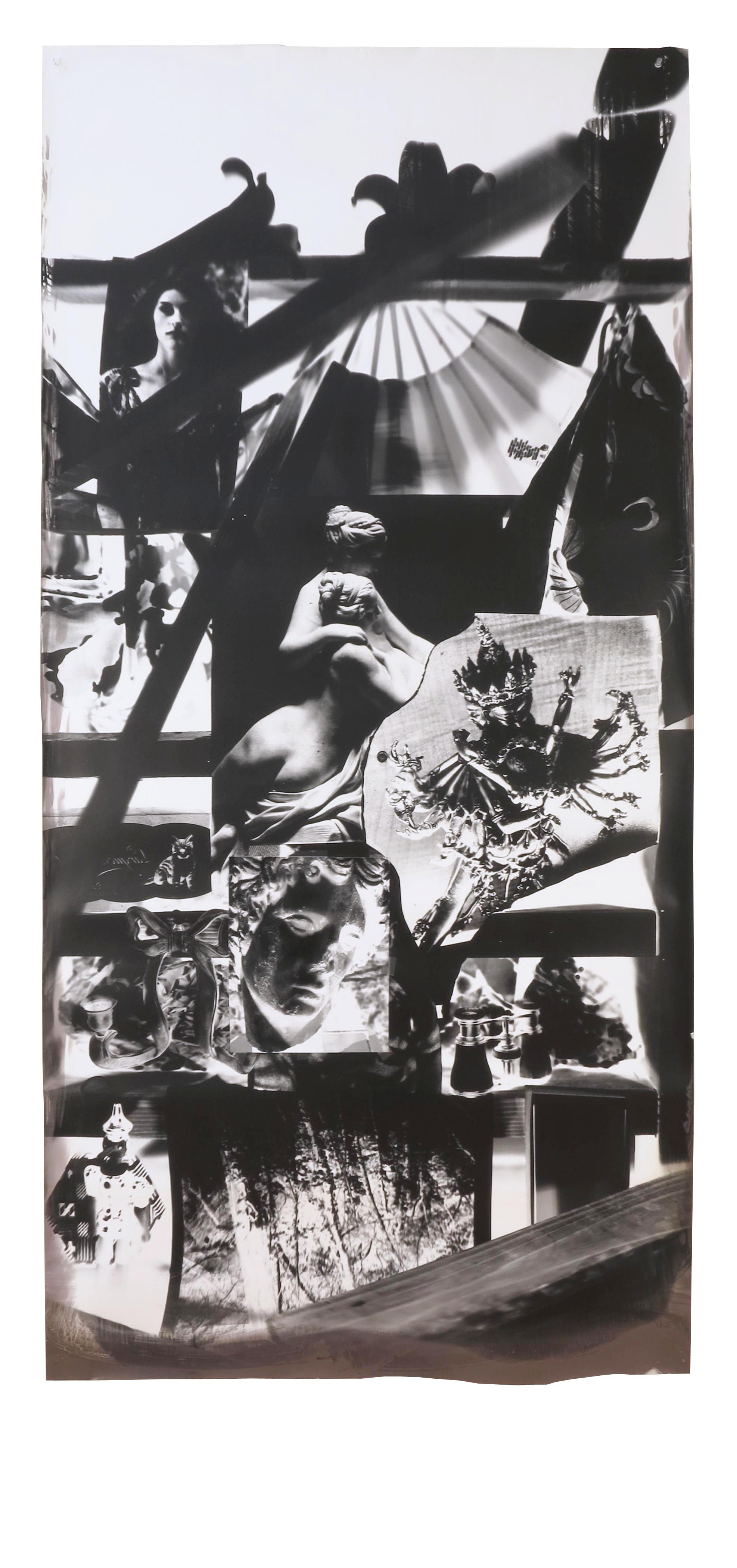 Sevres Figures and Tibetan Sculpture  2004  gelatin silver print  82 x 40 inches