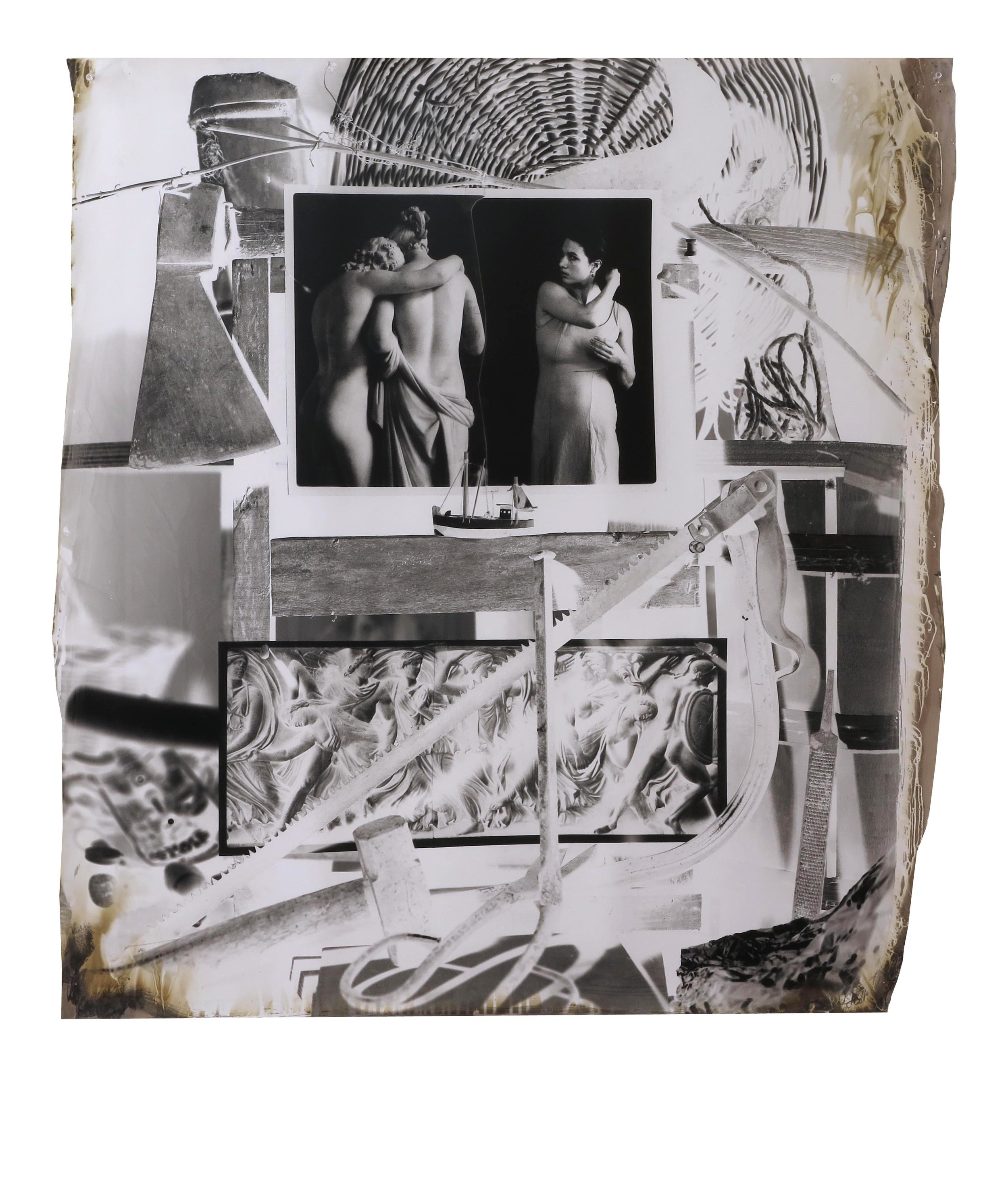 War, Sadness, and Escape  1999  gelatin silver print  42 x 38.5 inches