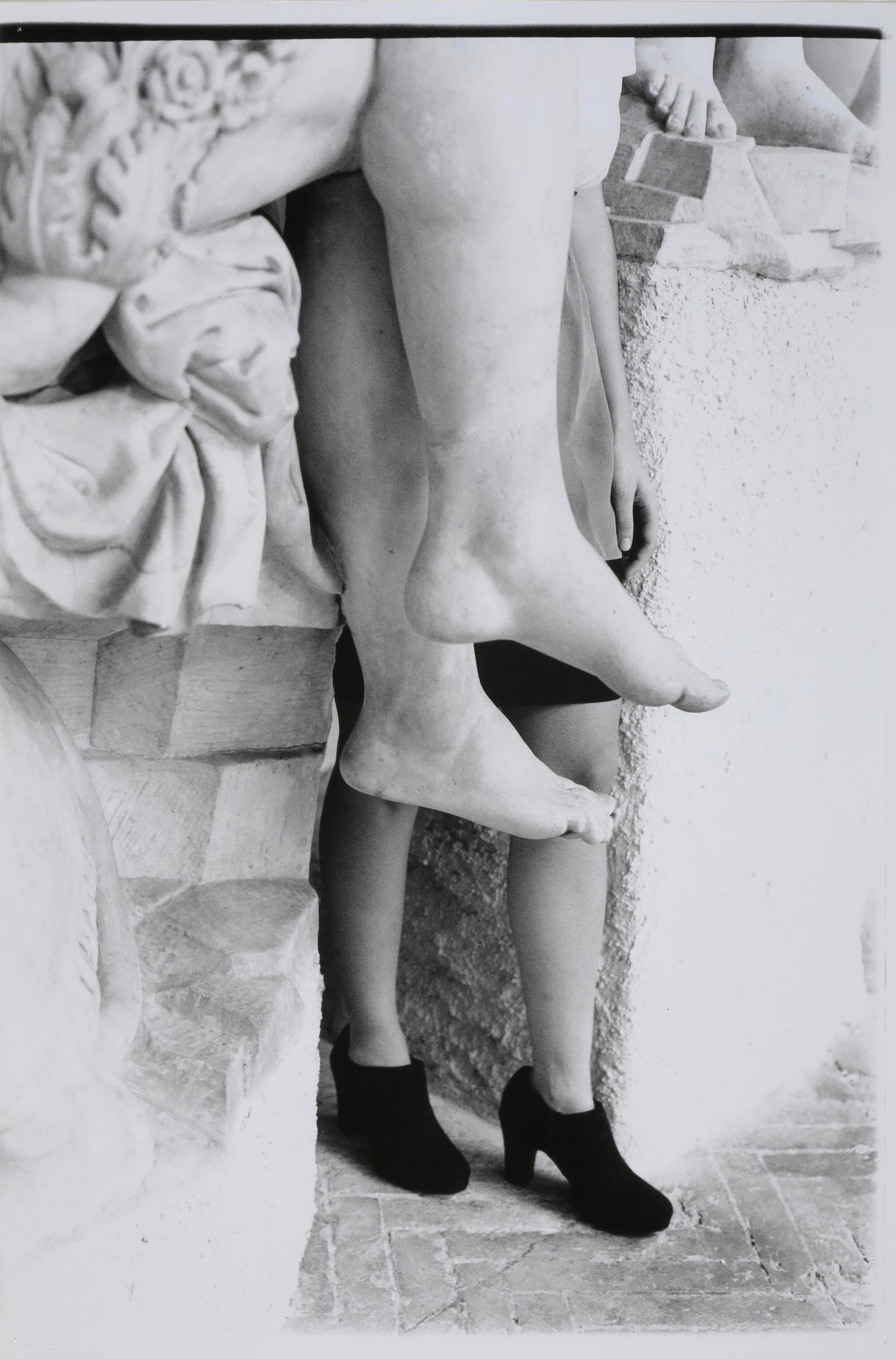 Legs at the Bargello  2014  gelatin silver print  36 x 24 inches