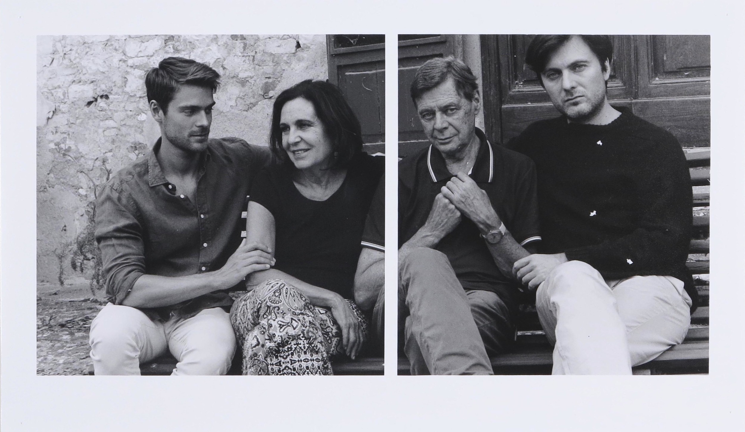 Lorenzo, Beatrice and Sons  2015  gelatin silver print  11.75 x 20 inches