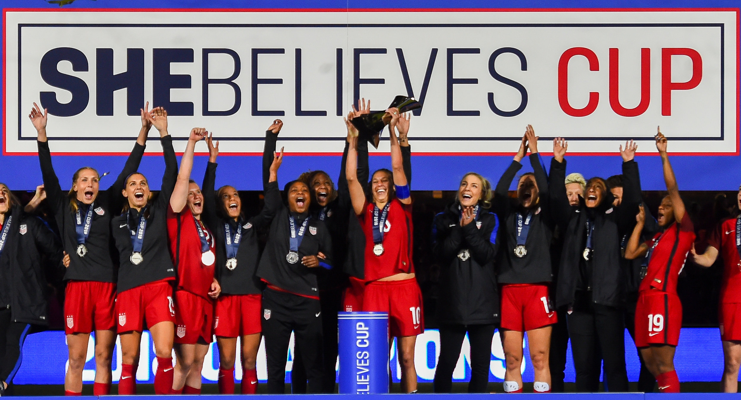 As the U.S. Women's National Team stepped to the podium at Orlando City Stadium to lift its second SheBelieves Cup trophy in three years, U.S. Soccer Development Fund Circle members had exclusive post-game field-level access to watch the trophy presentation up close.   In addition to post-game field-level access during the trophy celebration, Circle members had access to a variety of exclusive benefits, unforgettable behind-the-scenes access and one-of-a-kind service from U.S. Soccer during the 2018 SheBelieves Cup. Learn more about Circle member benefits at  ussoccer.com/circles .