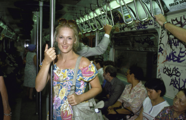 Madame Meryl on the NYC subway in 1981