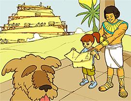 Skylar and Murphy in Egypt